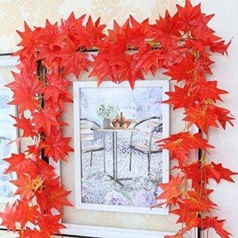 DX 2.4 M Pernikahan Hiasan Taman Daun Musim Gugur Garland Daun Maple Pohon  Anggur Palsu Dedaunan e5d28dbb70