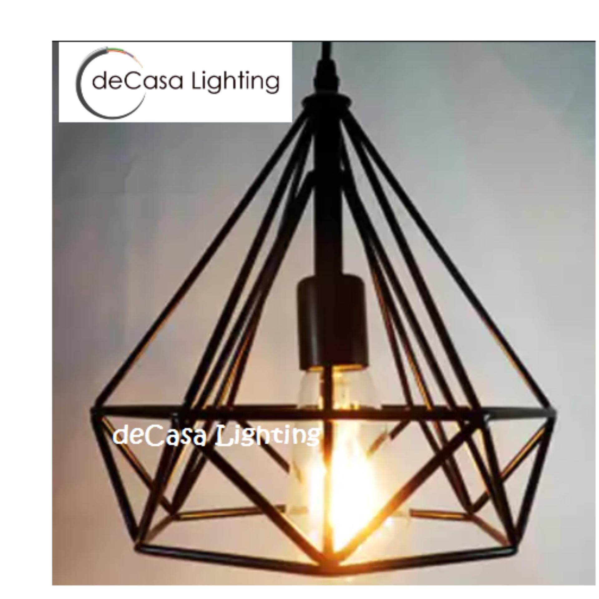 25cm Loft Ceiling Hanging Decorative Light Triangle Shape Ceiling Light Lamp Shade Hanging Light( Plain or White or Brown)