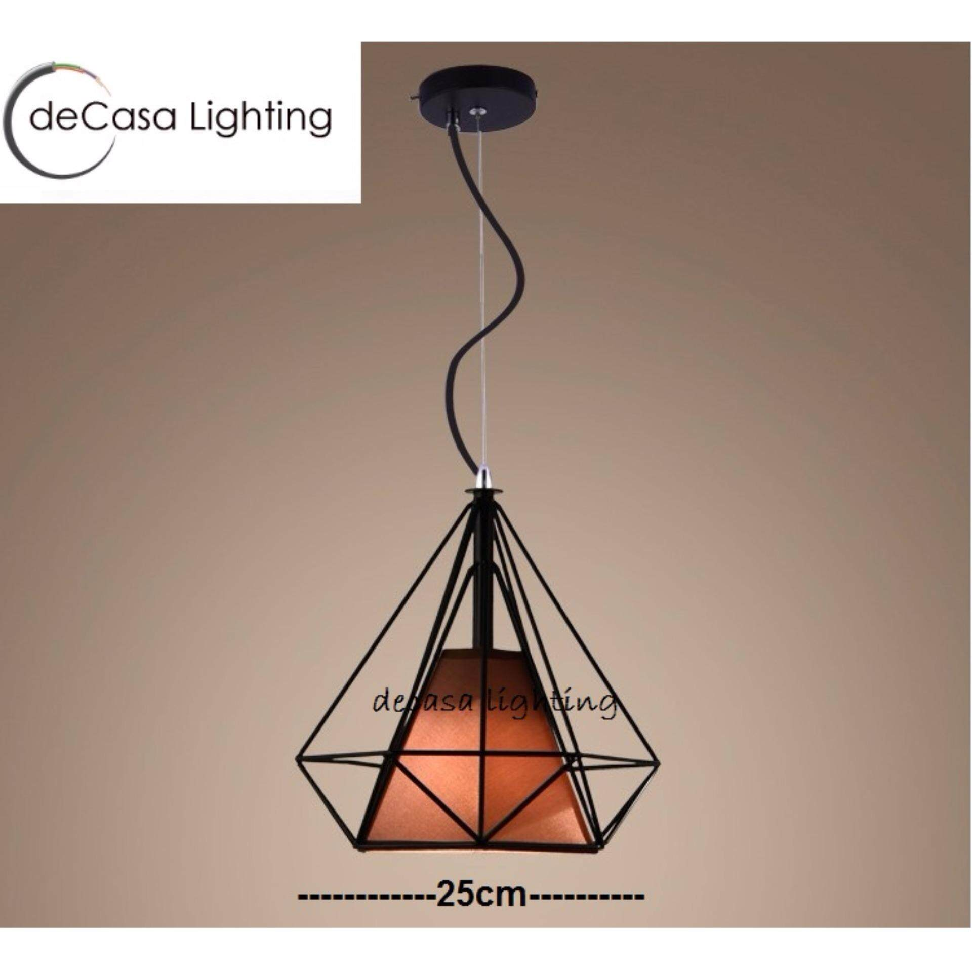 25cm Loft Ceiling Hanging Decorative Light Triangle Shape Ceiling Light Lamp Shade Hanging Light( Plain or White or Brown) (LY-TY201-25)
