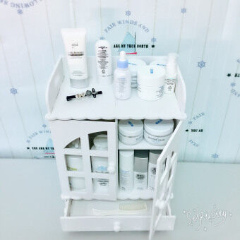 29 x 18 x 38.5cm creative desktop cosmetics storage box drawerdresser skin care products lockers , 1