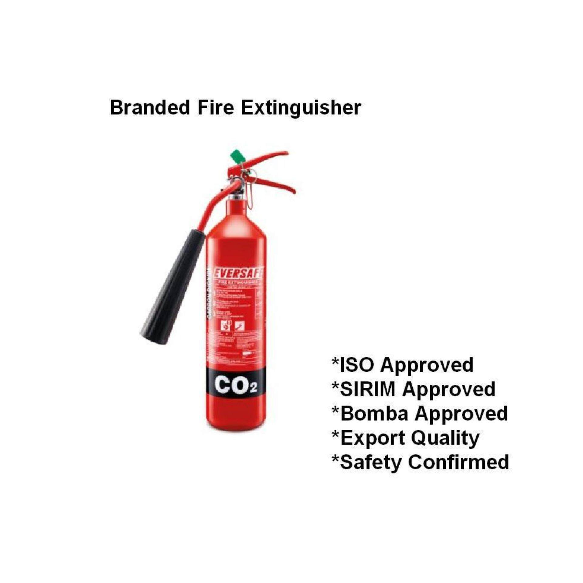 2kg CO2 branded fire extinguisher for house kitchen and electrical board server room(SIRIM and BOMBA Approved)