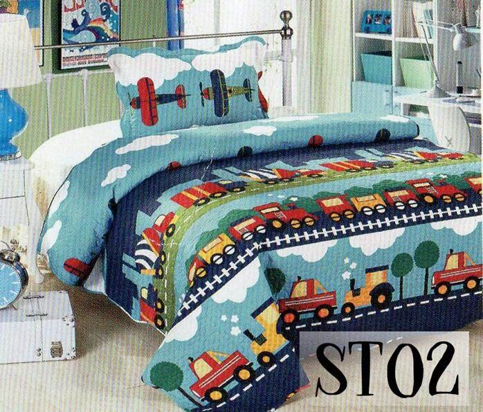 2PC SET PATCHWORK (SUPER SINGLE) 180*220CM ST01