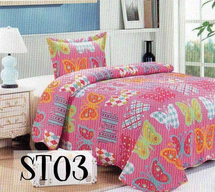 2PC SET PATCHWORK (SUPER SINGLE) 180*220CM ST03