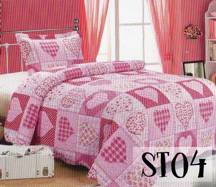 2PC SET PATCHWORK (SUPER SINGLE) 180*220CM ST04