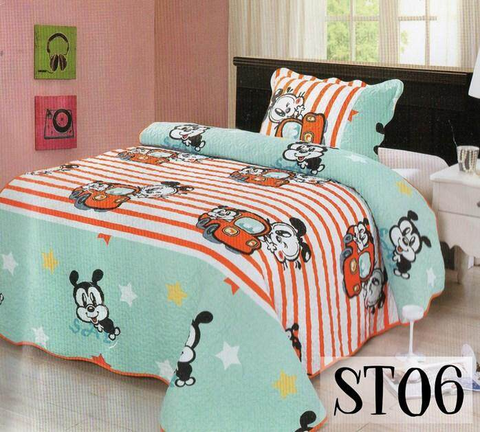 2PC SET PATCHWORK (SUPER SINGLE) 180*220CM ST06