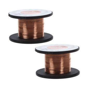 Harga 2Pcs 15m 0.1MM Copper Soldering Solder Enamelled Reel Wire RollConnecting