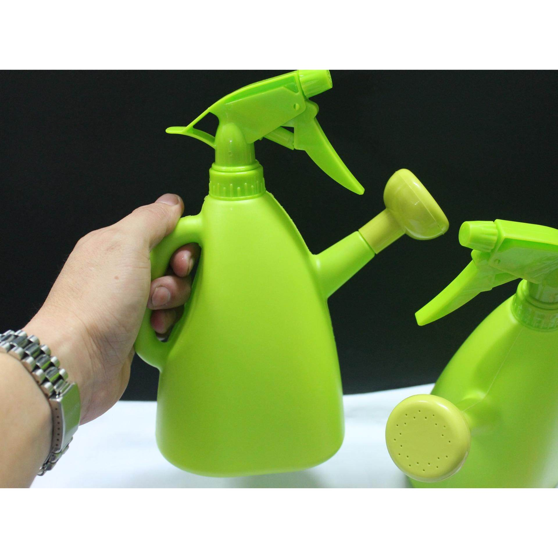 2pcs 2 Functions Bottle Spray and Pour Water (green)