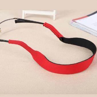 2pcs Glasses Strap Neck Cord Sports Sunglasses Rope Band Holder Eyeglasses String Red