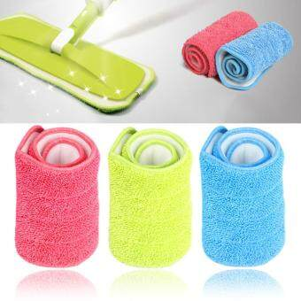Harga 3 Colors Replacement Microfiber mop Washable Mop head Mop Pads FitFlat Spray Mops Household Cleaning Tools