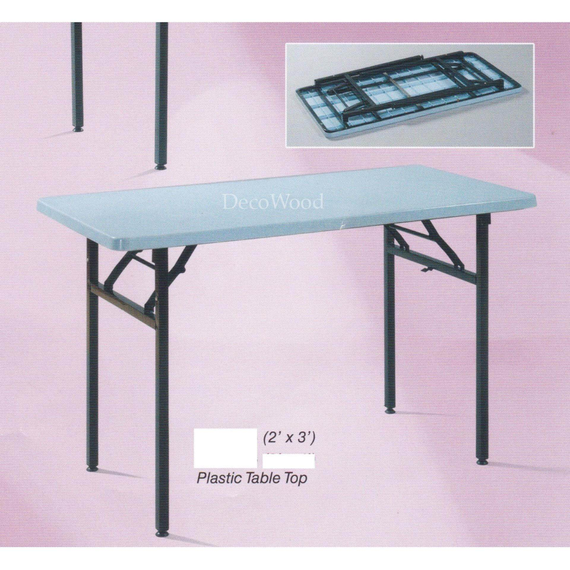 3-Feet Rectangular Plastic Table/Dining Table/Writing Table/Mamak Table L900MM X W600MM X H750MM White