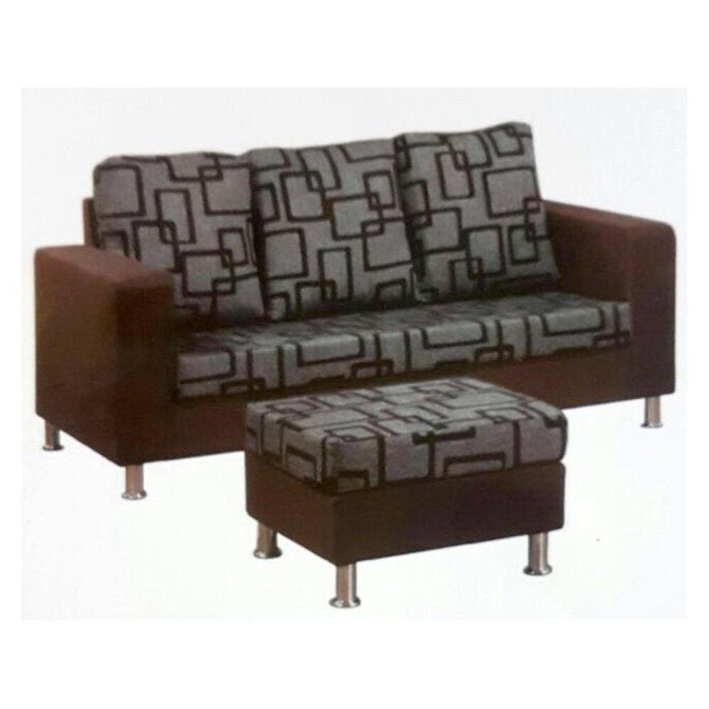 3 Seater 5-Feet L-Shape Cushion Fabric Sofa/Relax Sofa/Lounge Chair/Lounge Sofa/Hall Chair/Hall Sofa