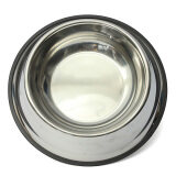 (LZ) 30 CM Stainless Steel Pet Dogs Cats Feeding Feeder Food Water Bowl Dish
