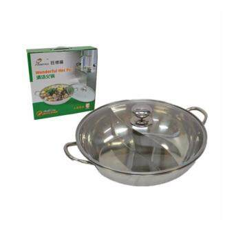 Harga 30cm Stainless Steel Steamboat Hot Pot