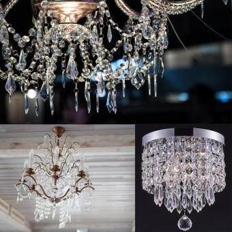 30pcs Acrylic Crystal Clear Garland Hanging Bead Curtain Wedding Club Party Decor