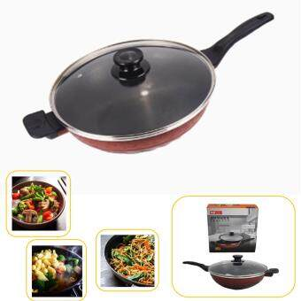 32cm High Quality Smooth Surface Not Greasy Extra Non-Stick StarFrying Cooking Wok Pan