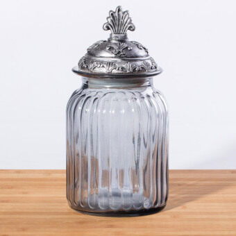 3.5 European glass round Home Decorative candy jar
