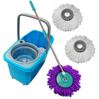 Harga 360 D Magic Spin Easy Mop With 3 Mop Heads