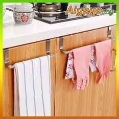 36cm Stainless Steel Over Kitchen Wall Cabinet Door Towel Holder Hanger Hanging Hook Rack Bar Storage
