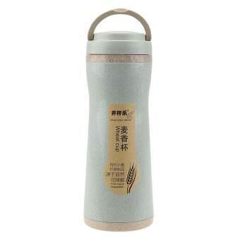 380ml Eco-friendly Wheat Straw Drinking Water Bottle Sealing(Blue)