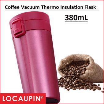 Harga 380mL Locaupin Coffee Vacuum Thermo Insulation Flask
