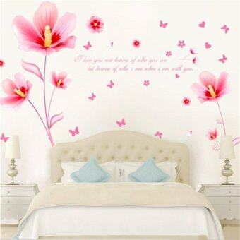 3D Flowers Bloom Wall Sticker Decal Wallpaper PVC Mural Art HouseDecoration Home Picture Wall Paper for Adult Kids 60X90