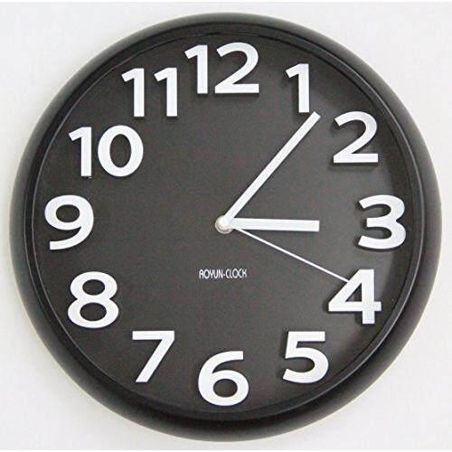 3D Modern Wall Clock  RoundDark001