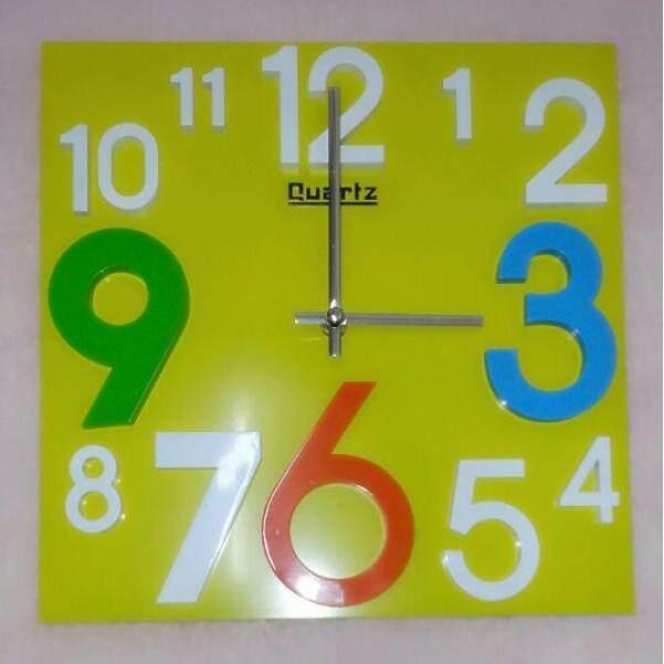 3D Wall Clock  Nature Green