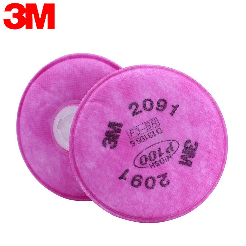 Buy 3M 2091 P100 filter cotton dust cotton filter paper and smoke anti-glass fiber with half mask use Malaysia
