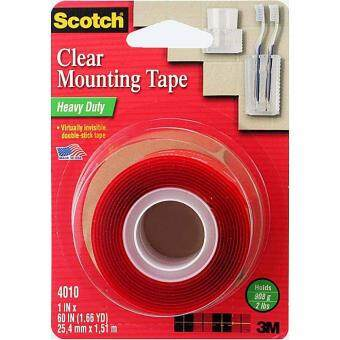 "3M 4010 Scotch Heavy Duty Clear Mounting Tape 1""x60\"""