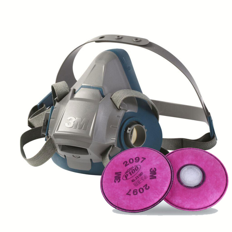 Buy 3M 6502QL Rugged Halfpiece Respirator + 3M 2097 P100 Ozone Protection & Nuisance Level Organic Vapor Relief Malaysia
