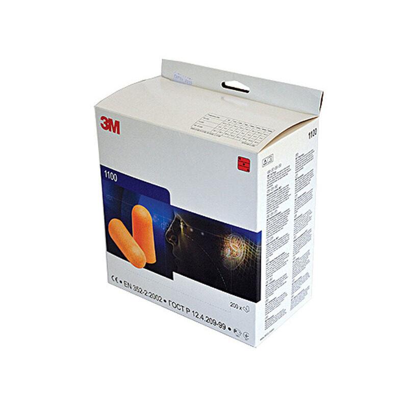 Buy 3M™ Foam Earplugs 1100 (Orange) 200 pairs/box Malaysia