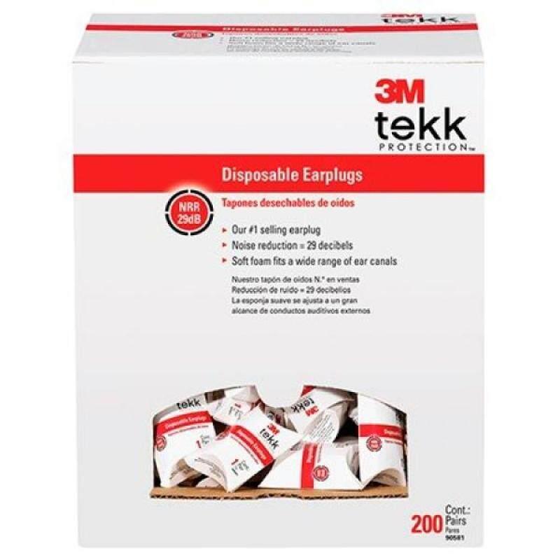 3M Tekk Protection Disposable EAR Plugs, 200-Pair