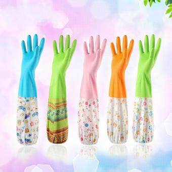 Harga 3Pairs/ Lot Kitchen Waterproof Household Latex Gloves Home Kitchenfor Wash Dishes Washing Gloves House Cleaning Glove
