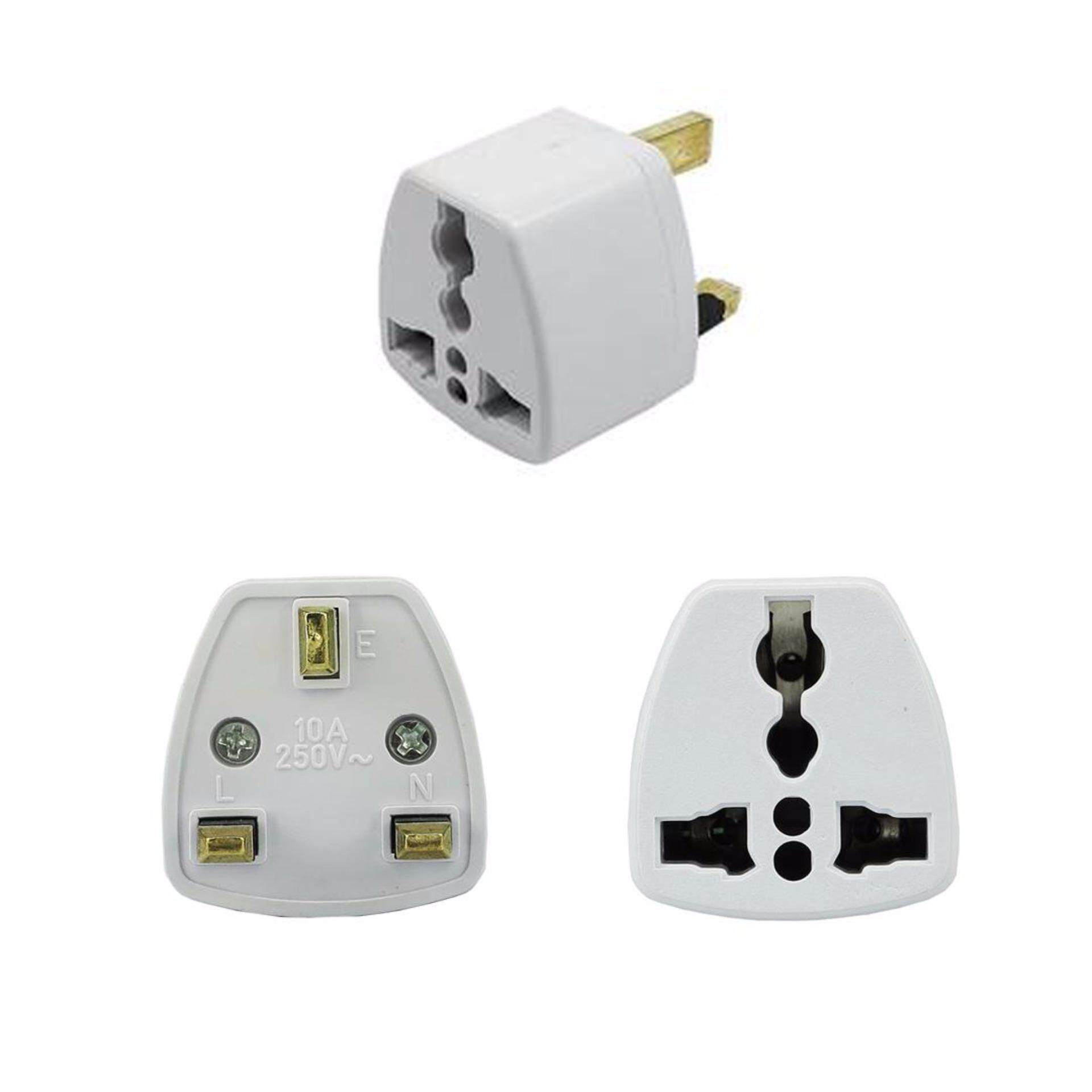 3pcs British Socket Adapter 3 Pin Travel Universal Adaptor Plug