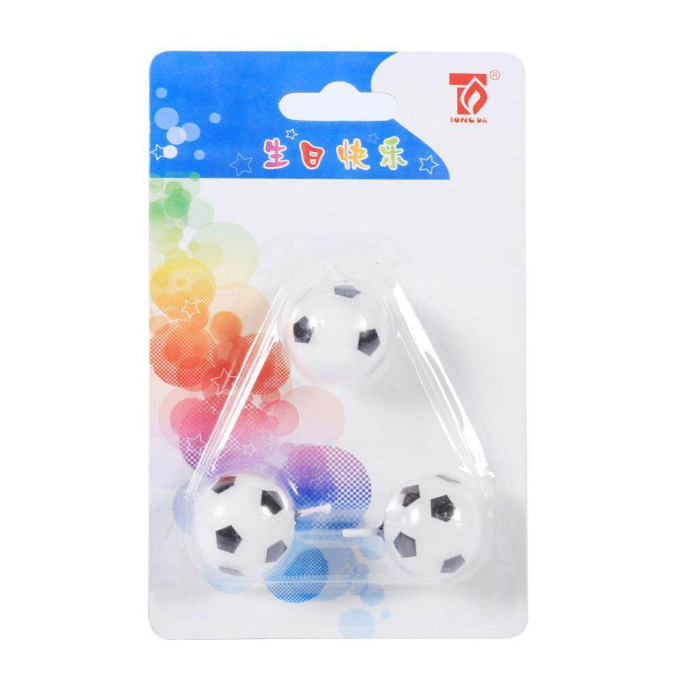 3Pcs Cute Soccer Ball Football Birthday Party Cake Candles Decorations Supplies For Kids Design - intl