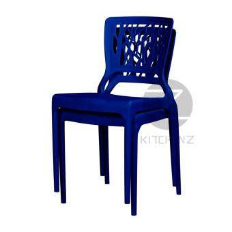 3V Modern Stackable Dining Plastic Chair IZ-701 Blue - 2 Pcs