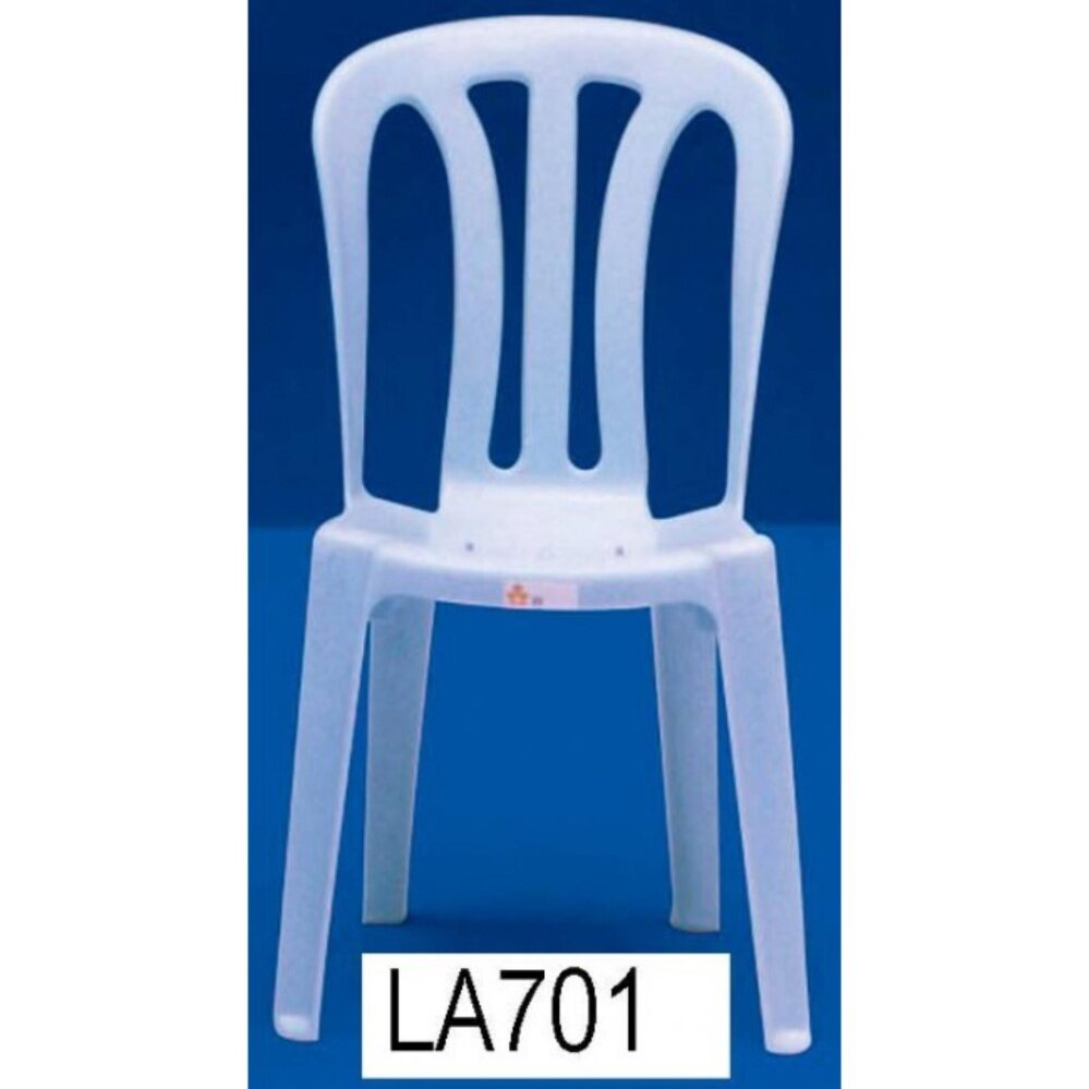 3V Solid Strong Restaurant Cafe Hall Plastic Chair x 5 Units (Marble Blue)