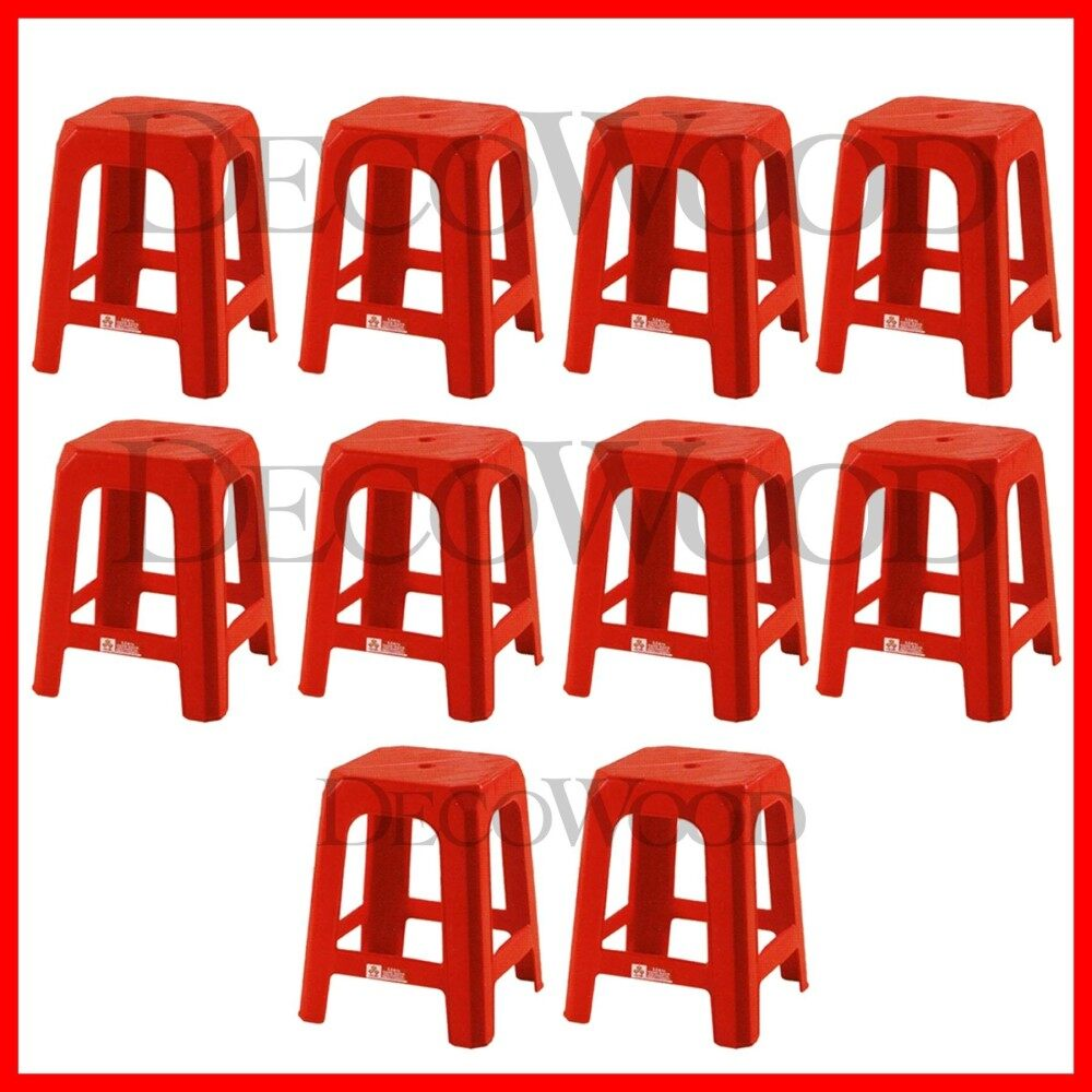 3V Strong Plastic Stool Chair (10 Units)
