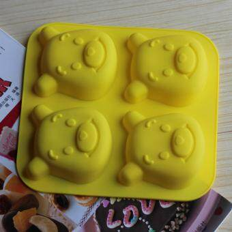 4-cavity Winnie the Pooh Silicone Mold | Chocolate Moulds | Jelly Molds | DIY Silicon Soap Molds