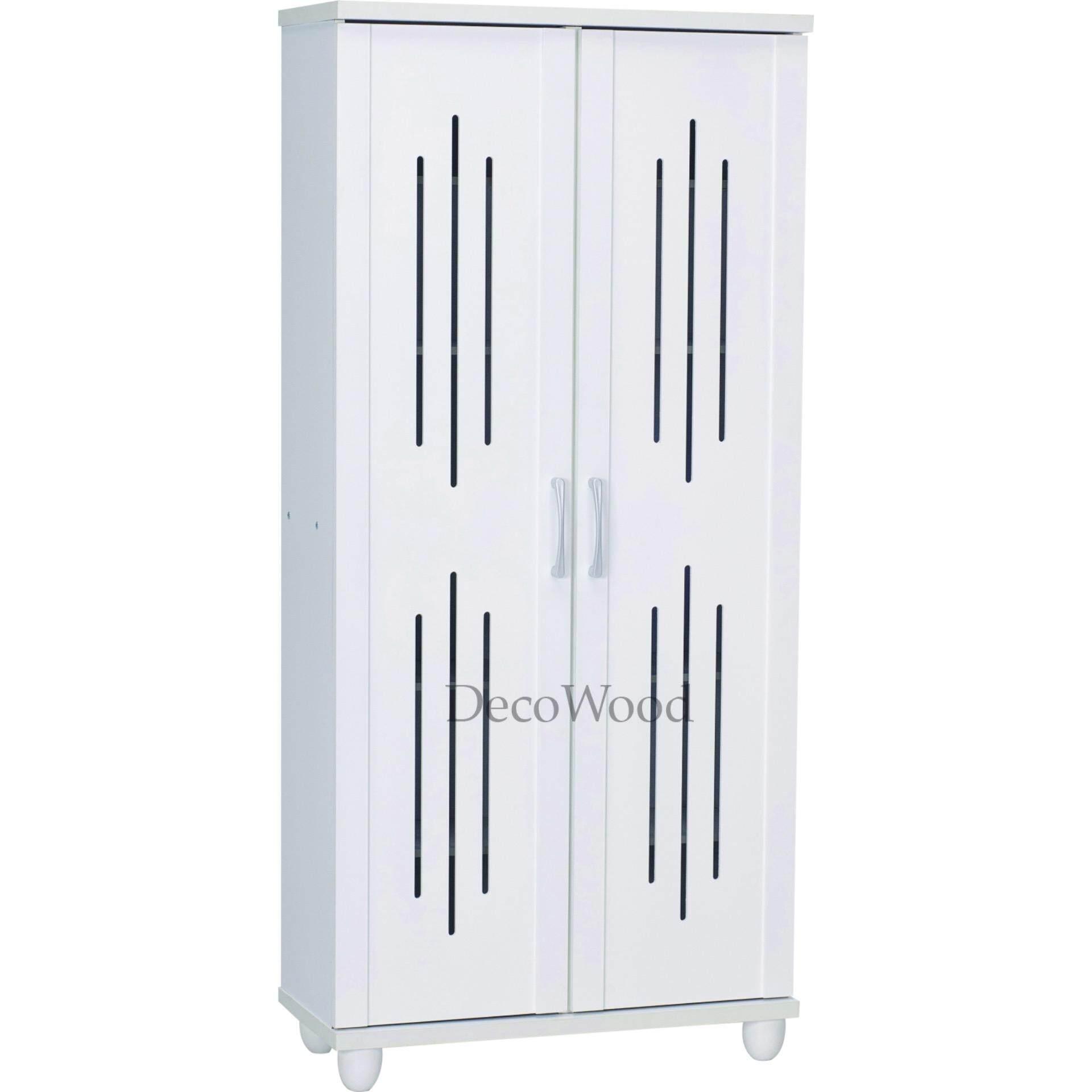 2 Door 6 Layer Solid Shoes Cabinet Shoes Rack Shoe Rack Rak Kasut Shoes Storage L750MM X W330MM X H1625MM