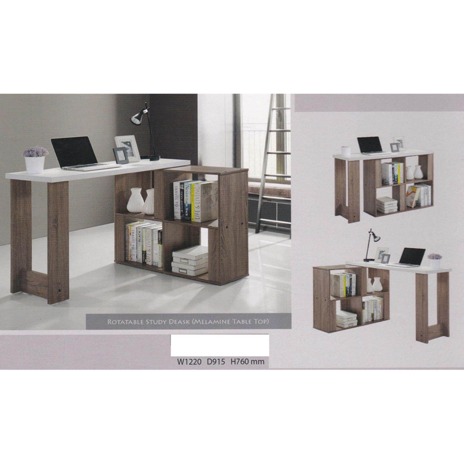 4 Feet Writing Desk/Office Table System/Study Table Office Cabinet  Pre Order 2 Week L1220MM X D915MM X H760MM (Brown Colour)