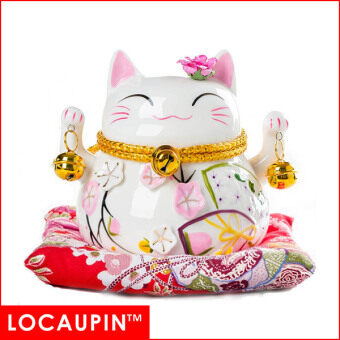 Harga (4 inches-B) LOCAUPIN Chinese New Year Home Decor Christmas Gifts Fortune Lucky Cat