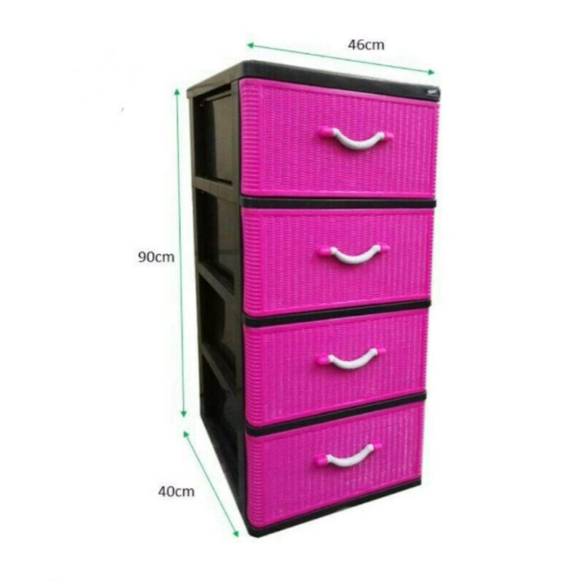 4 tier drawer plastic storage box