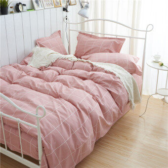 Harga 40s one-piece single 2.0 m bed Double linen sheets