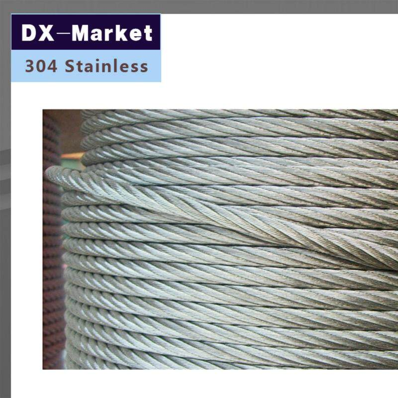 Buy 4mm , 10meter/lot , 7*7 , 304 stainless steel wire rope Anti rust line Malaysia