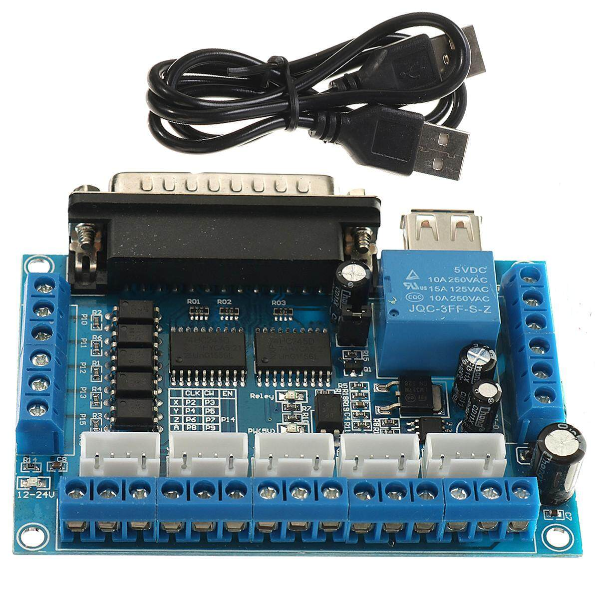 THB 276 5 Axis CNC Interface Board w/ Optocoupler For MACH3 Stepper Motor Driver .