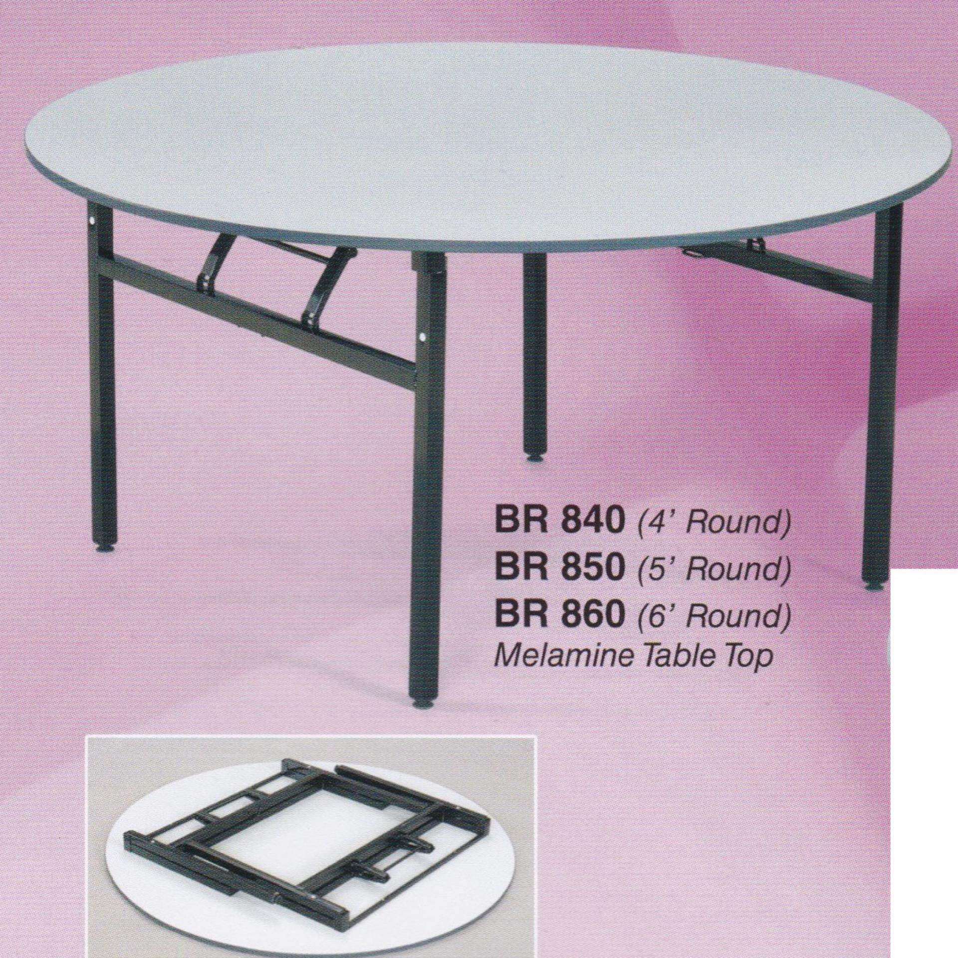 5-Feet Round Foldable Banquet Table With Thick Table Top L1524MM x H750MM
