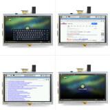 Sentuh Resistif 5 Inch Layar Lcd Display Hdmi For Raspberry Pi Xpt2046 Intl Asli