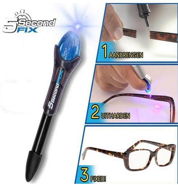 ... 5 Second Quick Fix Liquid Glass Welding Compound Glue Pen Laser UVLight Repair Seal Tool Quick ...