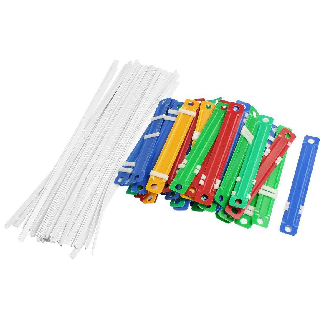 50 X Office School Colorful Plastic Binding Two-Piece Document Paper Fasteners - intl